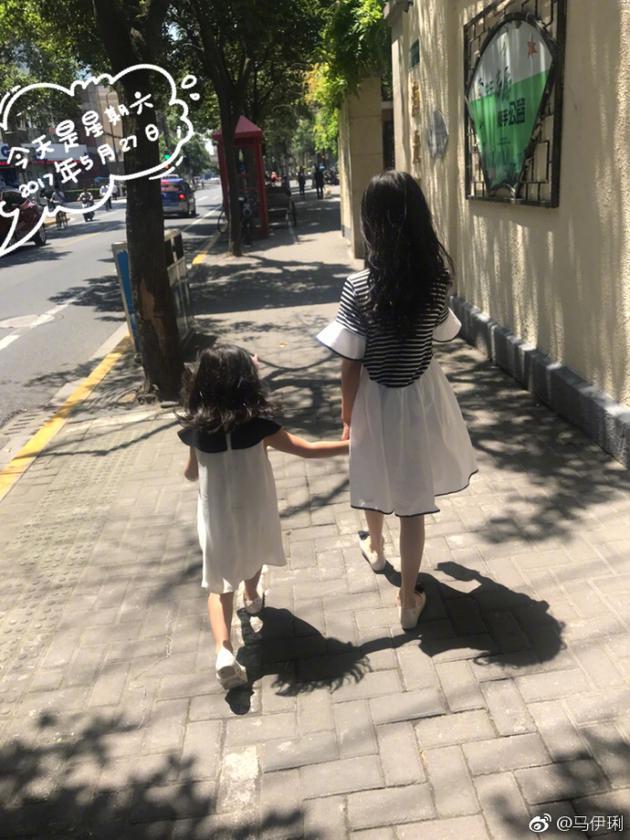 马伊琍与女儿