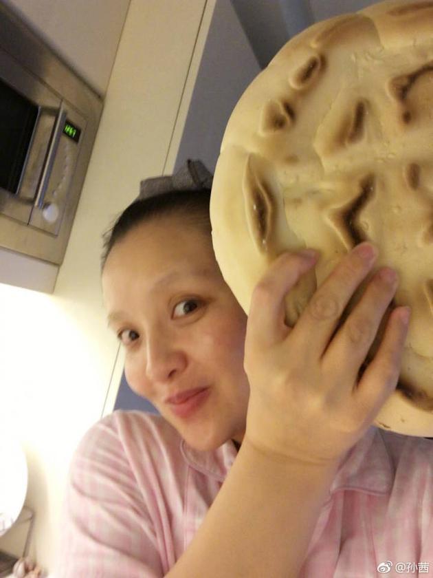 孙茜素颜自嘲大饼脸