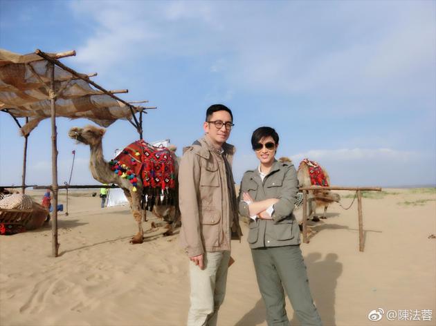 陈法蓉晒《卫斯理》拍摄现场 大漠戈壁黄沙满天