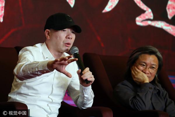 冯小刚、陈可辛出席论坛。