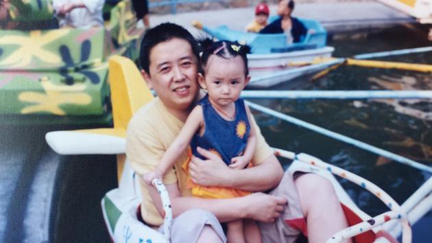 蒋依依与父亲