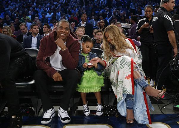 碧昂斯、JAY-Z和大女儿