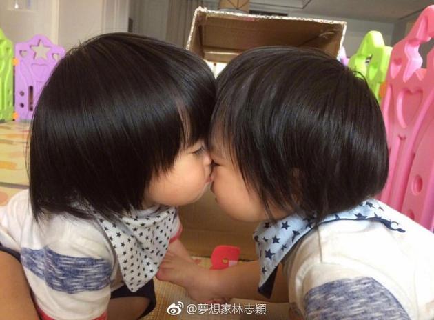 林志颖双胞胎儿子手牵脚亲脸超有爱 直呼不舍出门