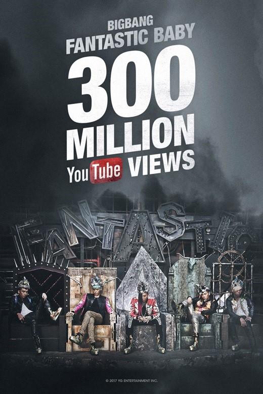 bigbang《fantastic baby》youtube点击数破3亿