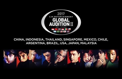 新浪娱乐讯 韩国SM娱乐公司今天宣布将于下半年举行世界规模的新人选秀2017 S.M。 Global Audition-Season 2。   SM公司今年上半年在6个国家25个城市举行了2017 S.M。 Global Audition-Season 1,而2017 S.M. Global Audition-Season 2的规模远超上半年,将在中国、美国、巴西、墨西哥、智利、阿根廷、日本、新加坡、泰国等11个国家的27个城市举行,这也将是韩国娱乐公司第一次在巴西等中南美洲国家举行选秀。