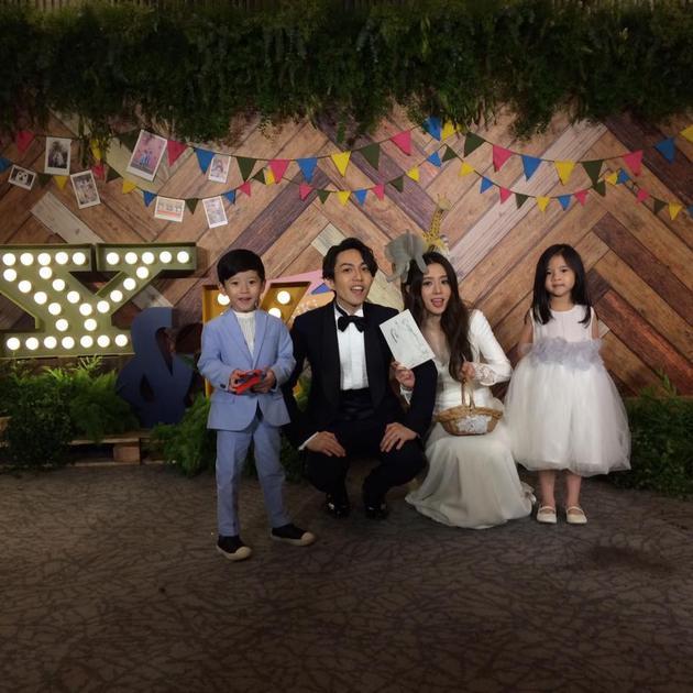林宥嘉丁文琪与两位小花童