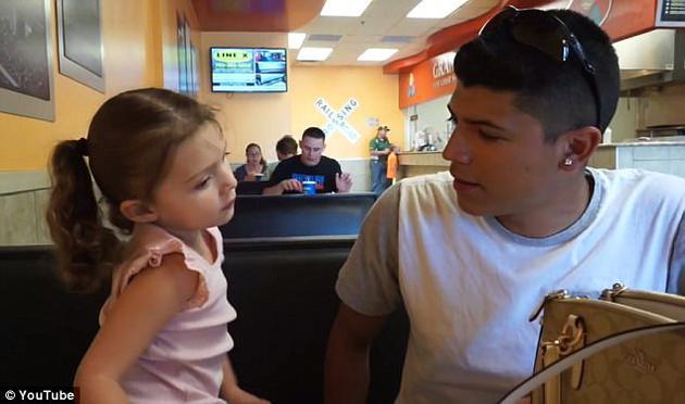 男子和女儿
