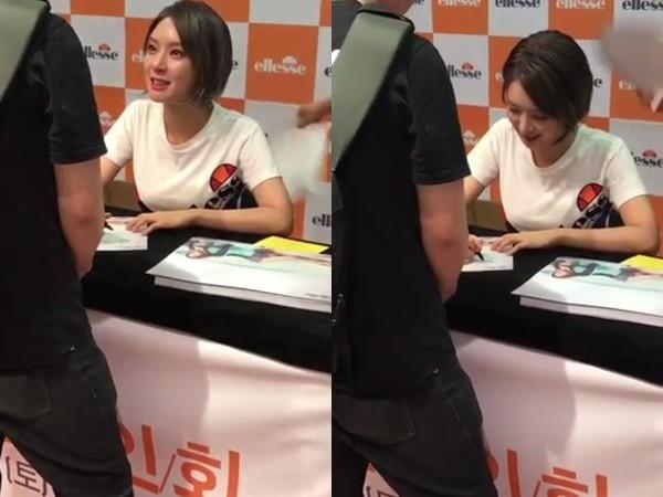 AOA退团后首次露面 草娥被粉丝惹哭活动暂停