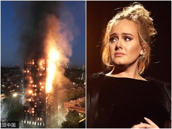 阿黛尔拒为伦敦大火灾民开唱 背后原因曝光超暖心