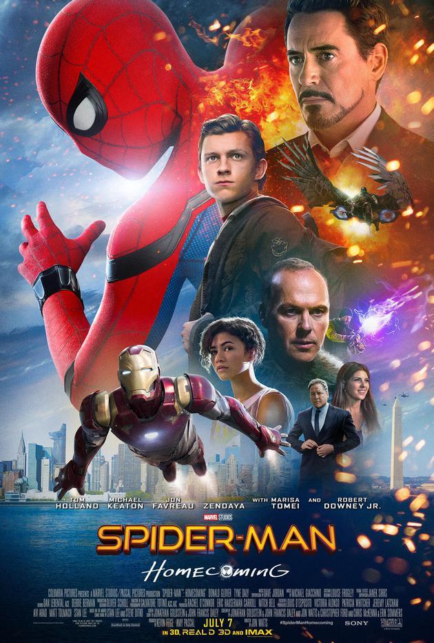 """《蜘蛛侠:英雄归来》有新""""上任""""的小蜘蛛,还有钢铁侠、秃鹰……"""