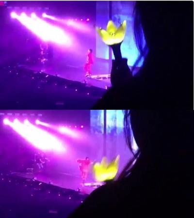 惊险!权志龙演唱会摔下升降台 扶着腰继续表演