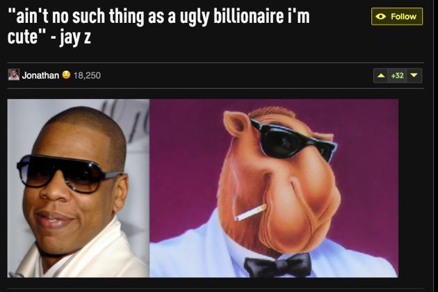 JAY-Z新歌回应被嫌长得丑:没有丑陋的亿万富翁!