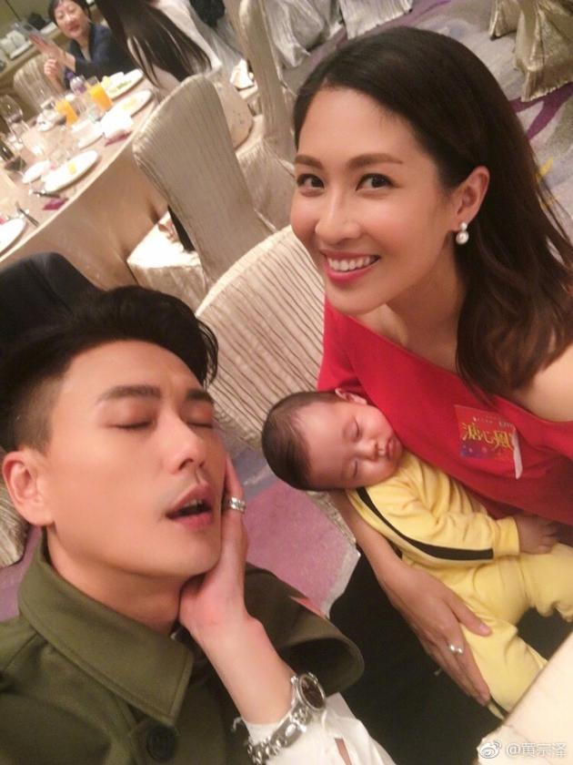 黄宗泽与陈敏之儿子自拍
