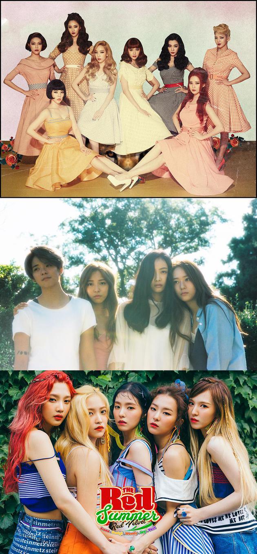少女时代、f(x)、 Red Velvet