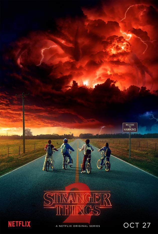《怪奇物语第二季》曝光预告海报 新剧将更加黑暗