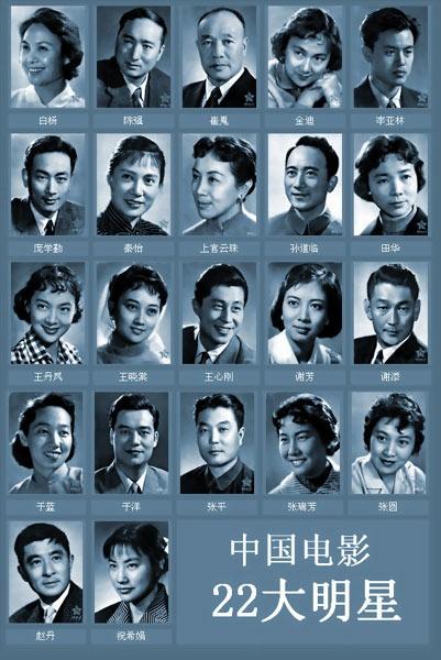 """周总理亲自批审的""""中国电影22大明星""""名单"""
