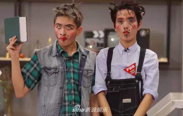 小哥哥们神一般的化妆技术将《快男》现场秒变恐怖电影现场