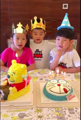 安吉和青梅竹马一起过生日 小鱼儿一起唱生日歌