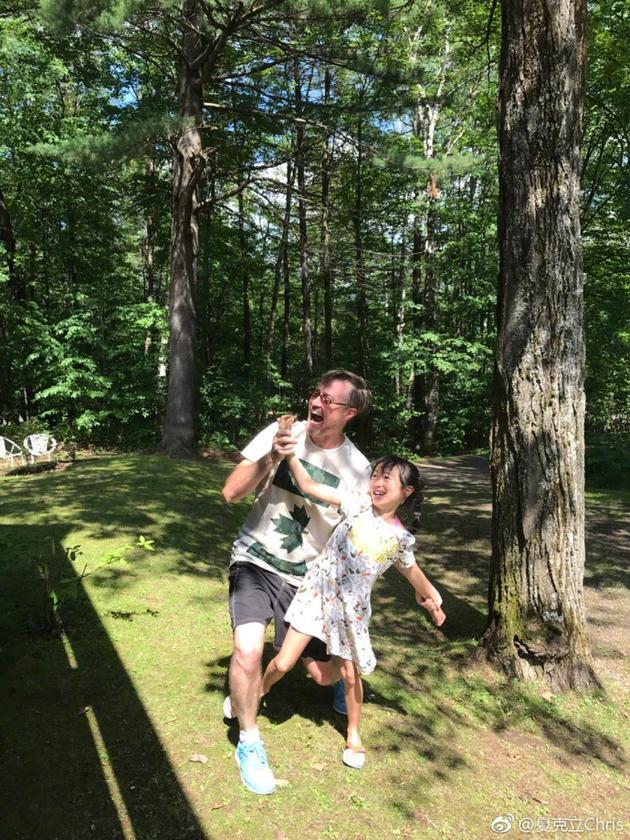 夏克立和女儿夏天