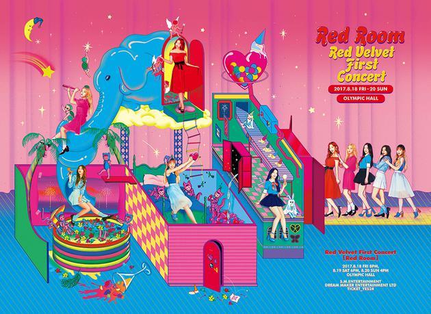 Red Velvet 首次单独演唱会 'Red Room' 海报