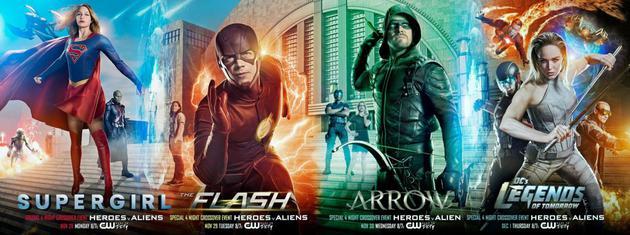 CW定下4部DC漫改剧交叉集开播日期 两天连播四集