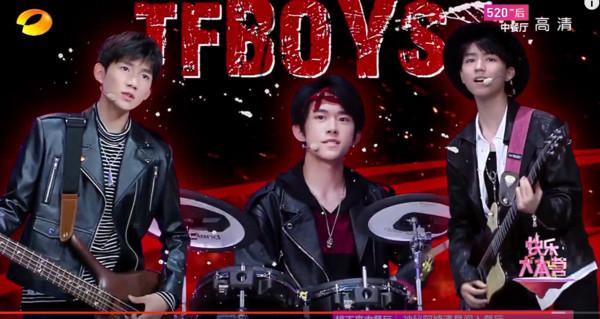 "TFBOYS翻唱《还珠》主题曲 ""漱芳斋""里唱摇滚"