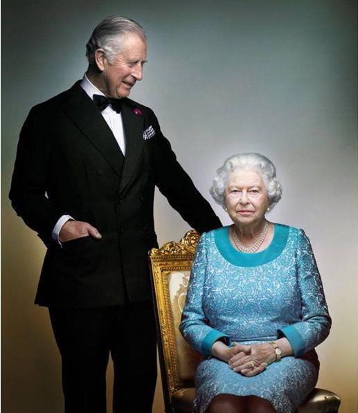 查尔斯王储和英国女王伊丽莎白二世