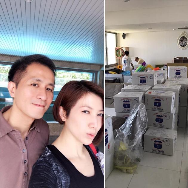 女星一家移居香港打186包家当