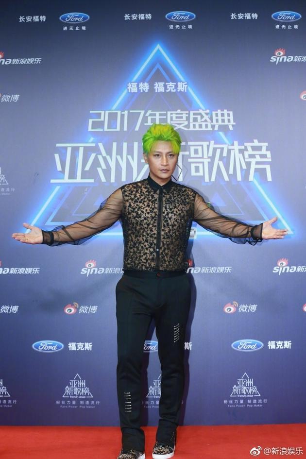 陈志朋亚洲新歌榜造型被嘲雷人 回应:我也不满意