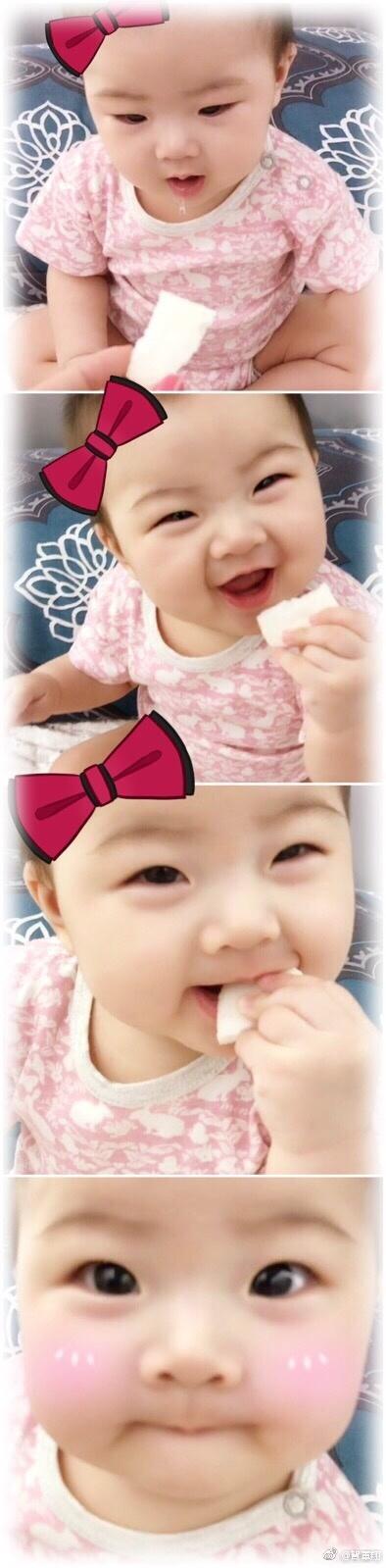 贺军翔女儿可爱照片