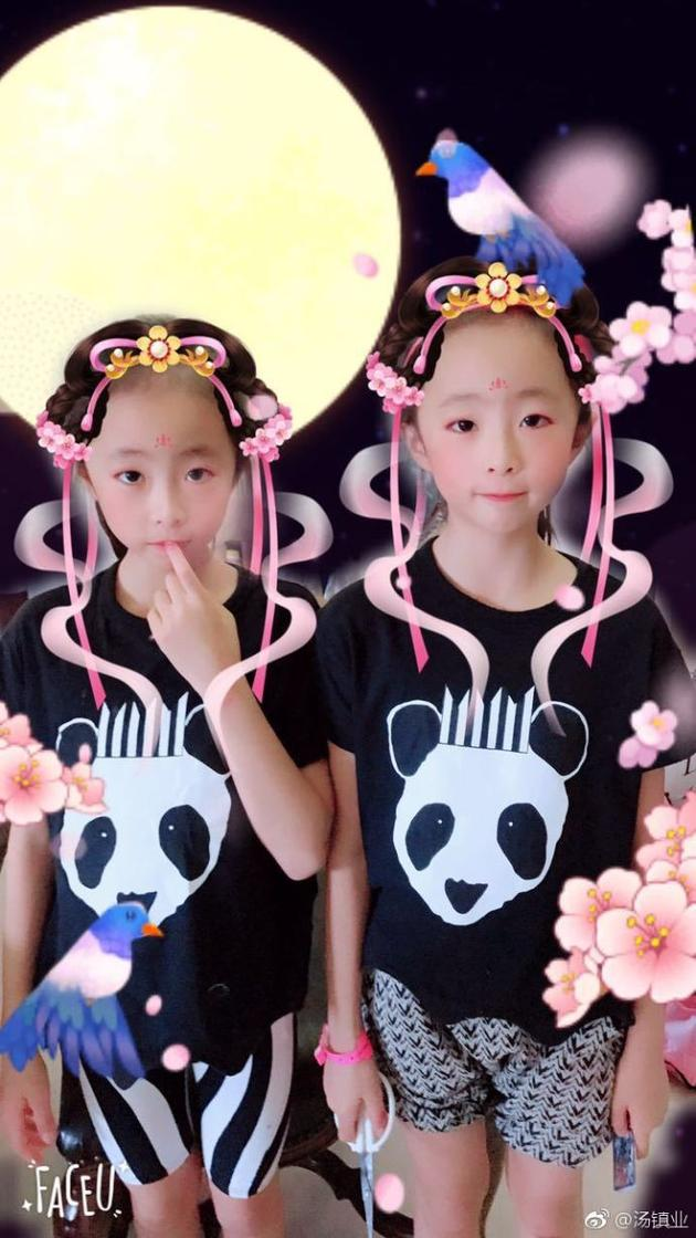双胞胎女儿美照