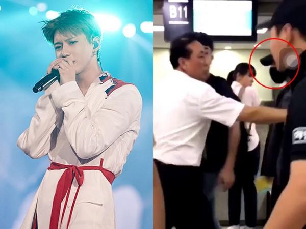 SHINee泰民被机场工作人员用力推胸膛