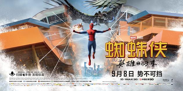电影《蜘蛛侠:英雄归来》终极海报-横版