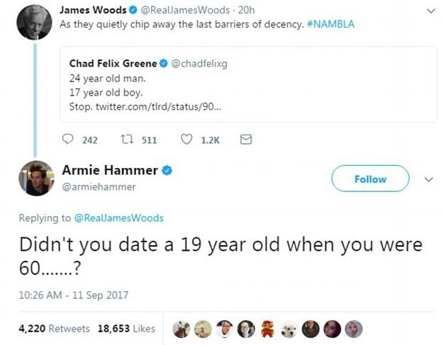 艾米·汉莫的回应非常犀利