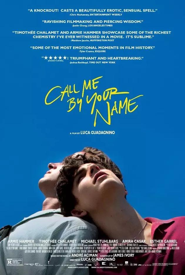 电影《请以你的名字呼唤我》海报