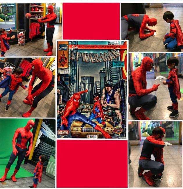 电影《蜘蛛侠:英雄归来》忠实小粉丝吴尊儿子MAX