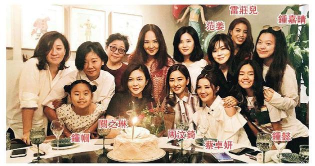 关之琳获大班好友炮制惊喜生日会,开心又感动。