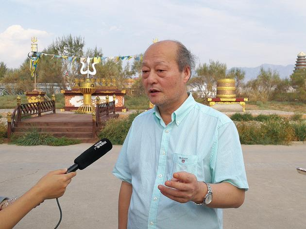 关峡团长接受采访