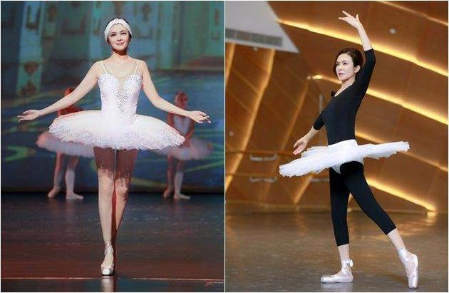 关之琳穿贴身芭蕾舞衣 蛮腰细腿全现形