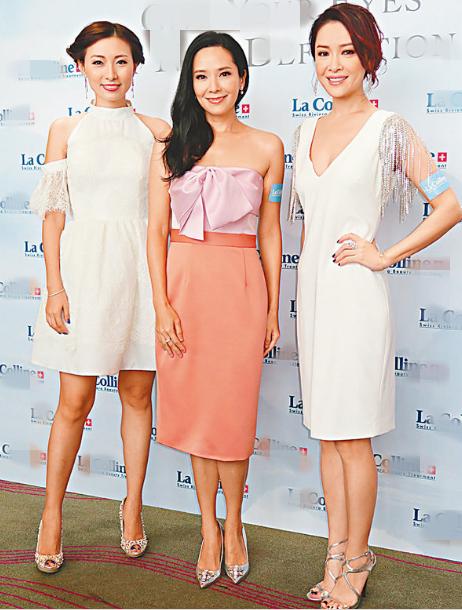 右起:向海岚、郭羡妮与陈爽同是选美出身。