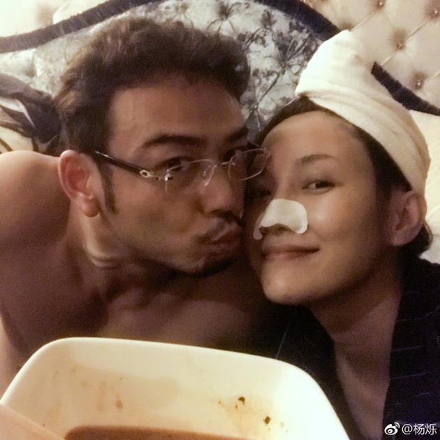 杨烁亲吻老婆