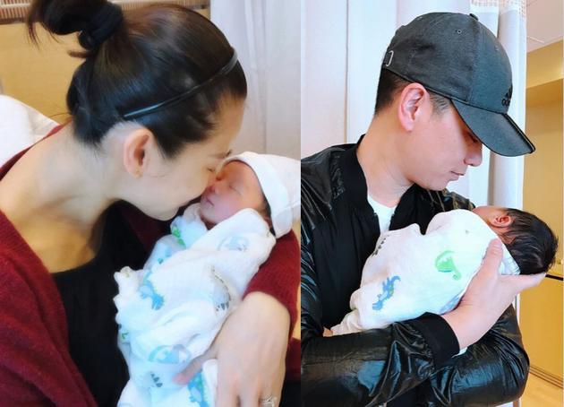 胡杏儿儿子正面照首次曝光老公甜蜜告白 网友:宝宝有点嚣张