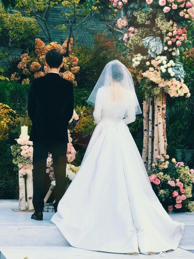 最美梦幻婚纱背影手绘