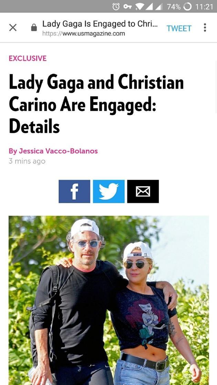 Lady Gaga被爆和男友已订婚 两人2月份开始交往