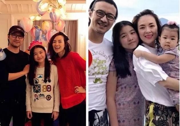 章子怡和两个女儿