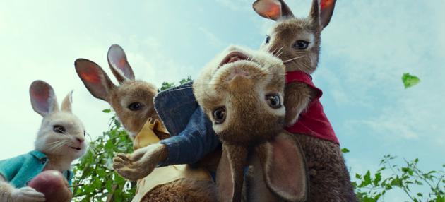 比得兔和三姐妹快乐玩耍