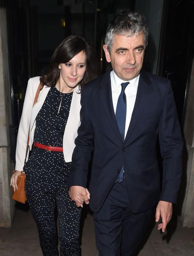 """""""憨豆先生""""罗温・艾金森(Rowan Atkinson)与小30岁新欢露易丝・福特( Louise Ford)"""