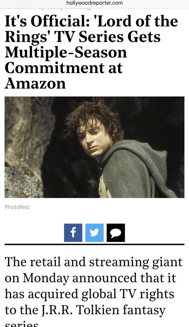 《指环王》将出电视剧版