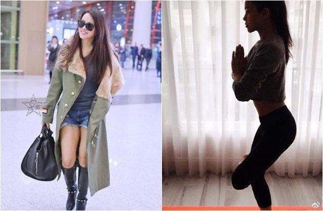 伊能静机场穿热裤秀长腿 网友毒舌'为啥骗人'