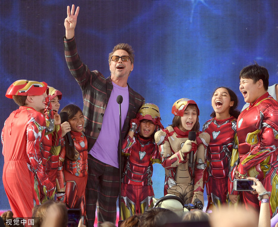 小羅伯特·唐尼以《復仇者聯盟4》奪下'青少年票選獎'動作電影最佳男主角。(圖/CFP)
